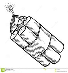 Dynamite Bundle Sketch Stock Image - Image: 22499901