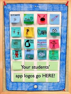 """Engage your students in the modern world through art integration. Let students create their own """"app"""" and add it to a classroom """"ipad"""""""