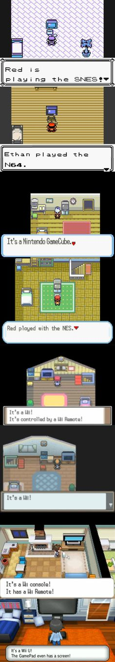 Pokémon - Nintendo consoles in the Pokémon games over the years.