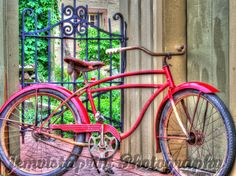 Rustic Red Bike photo art print vintage bicycle by Jemvistaprint, $25.00