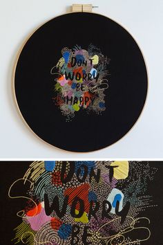 Embroidered typography by Maricor/Maricar #embroidery