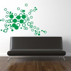 Funky Circles Vinyl Wall Decal Sticker Tatoo by by decomodwalls, $28.00