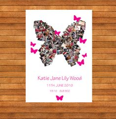 Butterfly Picture Collage  Home Decor by WordPerfectPictures