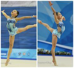 Leotard for a junior rhythmic gymnast