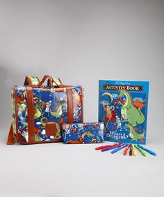 Blue What's a Dragon? Go Go Activity Set by The Piggy Story on #zulily today!