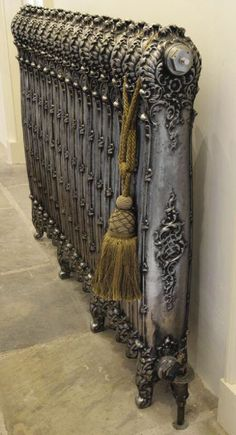 antique cast iron radiator just for decor