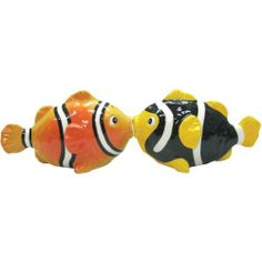 Westland Giftware Mwah Magnetic Clown Fish Salt and Pepper Shaker Set, 2-1/2-Inch by Westland Giftware. $11.99. Functional. Material: ceramic. Fun and cute styling. Magnetic insert to keep shakers together. High quality. Westland Giftware Mwah, Magnetic Clown Fish Salt and Pepper Shaker Set, 2-1/2-inch. These cute shakers have a magnetic insert to keep them together.