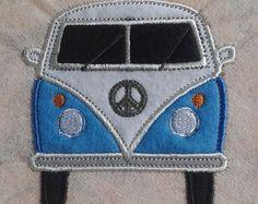 VW camper van patch, splitty, split screen, T1, T2, bus, Hippy wagon, retro