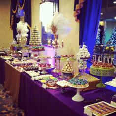 mardi gras party ideas | Mardi Gras Dessert Table LOVEinc Dessert Styling | Party Ideas