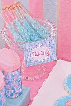 Rock candy - spa party