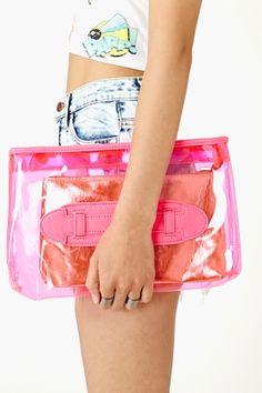 Neon Summer Clutch - Pink