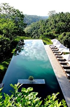 Infinity pool at Alila Ubud hotel, Bali, Indonesia (photo by Régis Cariou) Buy a day pass and hang out at this beautiful Bali hotel! // Cheap Things to Do in Bali, Dream Vacations, Vacation Spots, Beautiful World, Beautiful Places, Places To Travel, Places To Go, Travel Destinations, Dream Pools, Cool Pools