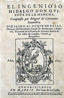 Esta es la primera obra de DON QUIJOTE DE LA MANCHA escrito en sus ultimos años.