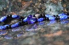 Amethyst Sapphire Necklace Heart Blue Purple by LostCoastArts, $35.00
