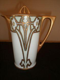 UDO-Bavaria-Favorite-Art-Deco-gold-floral-gilded-teapot-chocolate-coffee-pot
