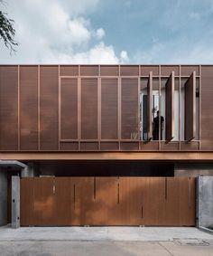 Wooden Architecture, Innovative Architecture, Modern Architecture Design, Commercial Architecture, Facade Design, Facade Architecture, Residential Architecture, House Outer Design, Metal Facade