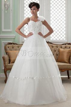 Fabulous Ball Gown Straps Bowknot Floor-length Wedding Dress