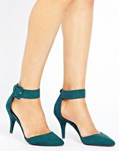 Asks safe & sound peacock green heels