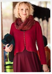 Felted cardigan in merino wool by Gudrun Sjöden