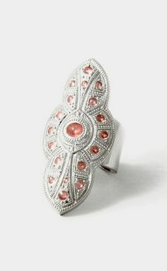 Anna Ring Silver and Pink
