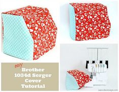 Your sewing machine may havea cover to protect it from the dust, but does your serger? Stephanie from Swoodson Says shares a tutorial for making a serger cover. Her dimensions will make a cover f…