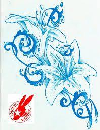 """Képtalálat a következőre: """"blue flower with black tattoo"""""""