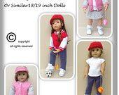 43 American Girl Doll. Ball Game Set PDF Knitting Pattern