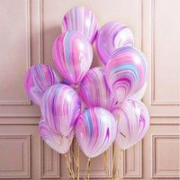 Wish | 10pc/lot Marble Agate Latex 12Inch Balloon Marblezided Party Balloon Birthday Party Decor Latex Balloons for Baby Shower Kids Party
