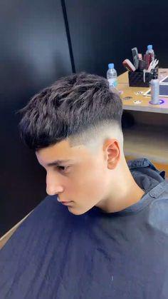 Boys Fade Haircut, Fade Haircut Styles, Short Fade Haircut, Boy Haircuts Long, Hair And Beard Styles, Hairstyles Haircuts, Hair Styles, Hair Cutting Videos, Hair Videos