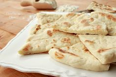 Whole Wheat Flatbread and Roasted Garlic White Bean Dip - Rachel Cooks Homemade Biscuits Recipe, Biscuit Recipe, Cooking Time, Cooking Recipes, Focaccia Pizza, White Bean Dip, Sweet And Salty, International Recipes, Sauces