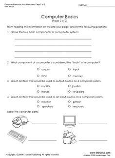 17 Best Images of Basic Computer Skills Worksheets Computer Basics Worksheet, Computer Skills 2nd Grade Worksheets, Science Worksheets, Reading Worksheets, School Worksheets, Vocabulary Worksheets, Kindergarten Worksheets, Worksheets For Kids, Printable Worksheets, Kindergarten Learning