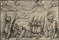 Daniel Four Beasts; By Hind, Arthur Mayger (ed.) & Hans Holbein the Younger [Public domain]