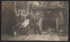 Allen Tupper True (L) and N.C. Wyeth in their studio.