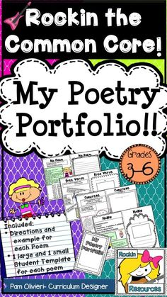 Poetry Portfolio: Super duper adorable poetry portfolio (booklet) for grades 3-5. Directions and samples are included for all poems! There are 2 sizes included. My kids love the little booklets. What a great way to  Resource! TPT Resource