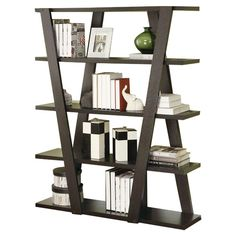 """Found it at AllModern - 59"""" Accent Shelves Bookcase"""