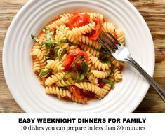 Italian Spoon's guide to easy weeknight dinners is keep it simple, keep it delicious and plan your meals. Discover the top 10 favourite quick and easy weeknight dinners that take only 30 minutes or less to cook.
