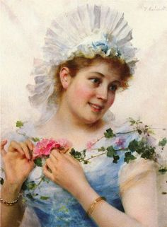 A Lady With A Rose