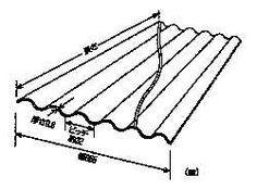 塩ビ波板 規格 W655 ピッチ32 長さ3~10尺