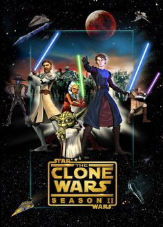 Clone Wars 2 poster by denisogloblin on DeviantArt - Rebels Star Wars - Ideas of Rebels Star Wars - The Clone Wars Season 2 Star Wars Dvds, Star Wars Film, Star Wars Poster, Star Wars Rebels, Star Wars Clone Wars, Star Wars Facts, Star Wars Humor, Guerra Dos Clones, Starwars