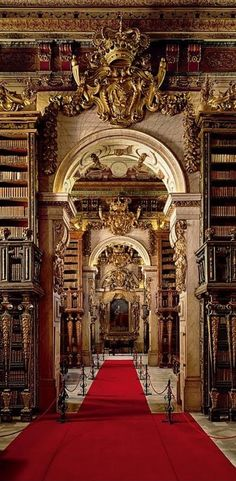 University of Coimbra General Library, Biblioteca Joanina da Universidade de Coimbra, Portugal Architecture Baroque, Beautiful Architecture, Beautiful Buildings, Architecture Design, Beautiful Places, Library Architecture, The Places Youll Go, Places To See, Cambridge Library