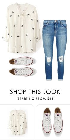 """""""Cute and Comfy"""" by kaitlyns0512 on Polyvore featuring Converse, J Brand, women's clothing, women, female, woman, misses and juniors"""