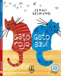 Nuestro nuevo libro ilustrado de la Colección Gatos: Gato Rojo, Gato Azul, de Jenni Desmond