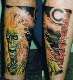 Iron Maiden eddie tattoo