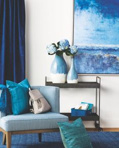 Relax in this sea and sky inspired, spring home REFRESH from @bellevuecollection !! Lovin' these livable, beautiful hues of blue that just…