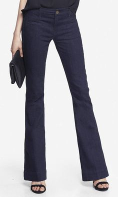 MID RISE SLIM FLARE JEAN | Express