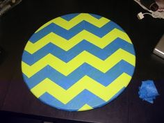 a kitchen table for two: Lazy Susan makeover & chevron stipe tutorial