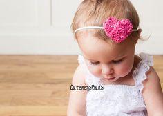 Pink Heart Headband..Baby Headbands, Baby Girl Headband, Baby Bows Headband, Infant Headband, Head band, Heart Headband, Valentines Bow by cutenessbuns on Etsy https://www.etsy.com/listing/119939457/pink-heart-headbandbaby-headbands-baby