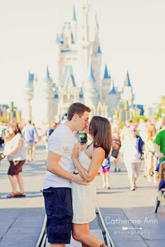 Love sans the Mickey ears--Disney World Engagement Session at Magic Kingdom | Tampa Modern-Vintage Wedding Photographer