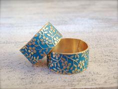 JETZT NEU: auch in anderen Farben: mint, apricot und weiß bei uns erhältlich, siehe Bilder!  ☛ Die wunderbar passende Medaillon-Kette zum Ring findest Du ebenfalls in unserem...