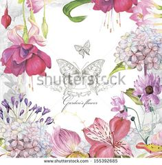 Watercolor Flower Stock Photos, Images, & Pictures   Shutterstock